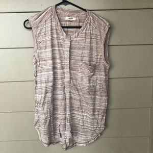 Madewell blouse, half button down